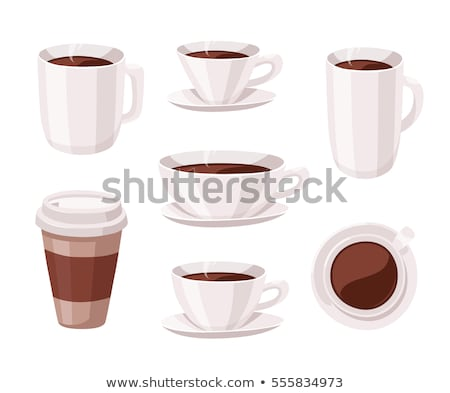 Set of glossy coffee cups, vector illustration. Stock photo © kup1984