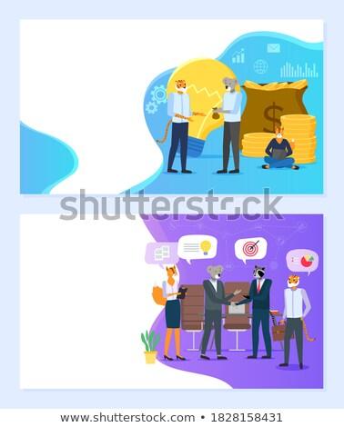 Gemeenschap website vector dieren Stockfoto © robuart