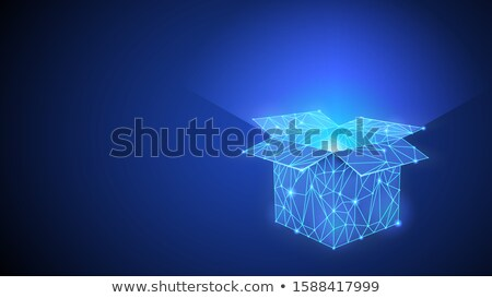 The Box Wich Shining Inside Of It Dark Blue Background Foto stock © Tashatuvango