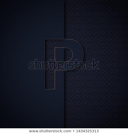 Noir gravé police 3D rendu 3d Photo stock © djmilic