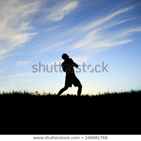 football player play in back lit day time Stock photo © Lopolo