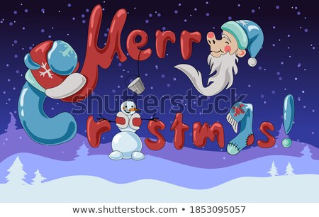 Winter Landscape, Christmas Holiday Joy Caption Stock photo © robuart