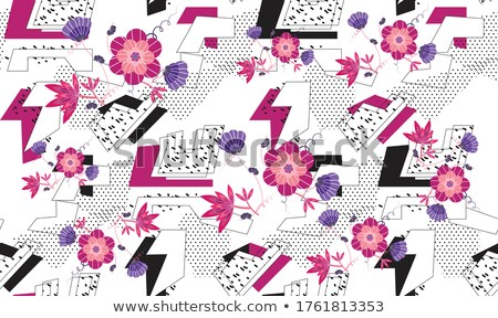 Abstract pattern with round shape forms in retro style. Seamless Stock photo © Terriana