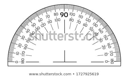 Round protractor on white background Stock photo © bluering
