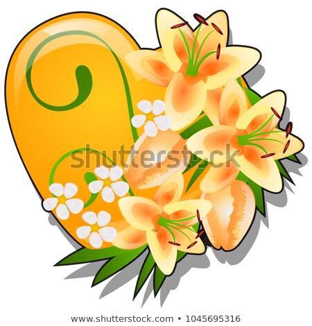 Forma cuore arancione colore decorato Foto d'archivio © Lady-Luck