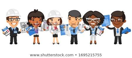 Cartoon Architectural Bureau Workers Stock photo © Voysla