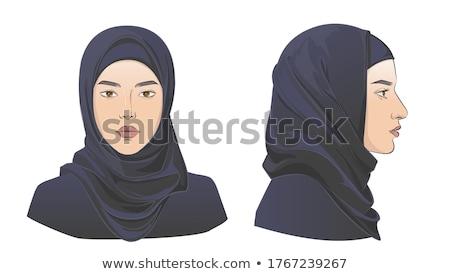 Moslim meisjes hijab portret glimlachend traditioneel Stockfoto © szefei