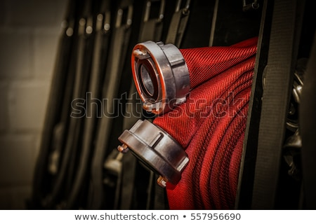Fire truck and equipment for fire extinguishing Stock photo © jossdiim