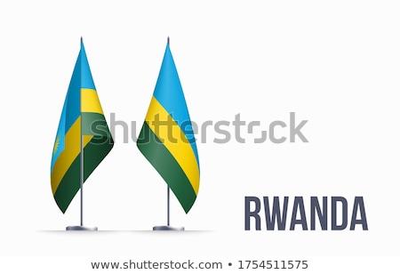 Rwanda flag, vector illustration on a white background Stock photo © butenkow