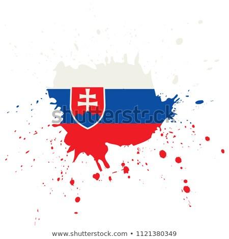 Slovaquie pavillon main blanche fond liberté Photo stock © butenkow