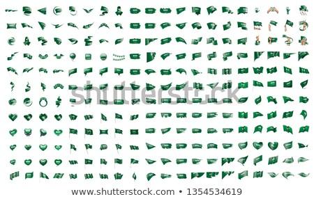 Groot collectie vector vlaggen Saoedi-Arabië ontwerp Stockfoto © butenkow