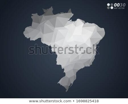 Brazylia kraju Pokaż proste czarny sylwetka Zdjęcia stock © evgeny89