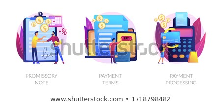 Money lending abstract concept vector illustration. Stock photo © RAStudio