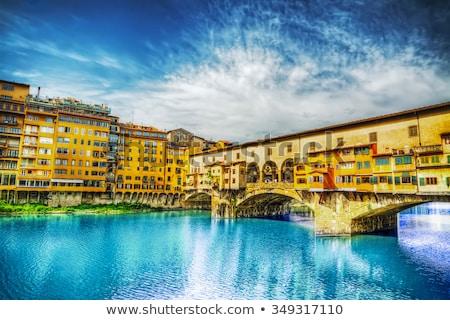 Florence - the Arno river seen from Ponte Vecchio Stock photo © wjarek