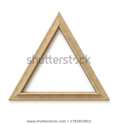 Wooden triangle shaped picture frame 3D Stock photo © djmilic