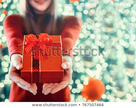 prezenty · czerwony · odizolowany · biały · ślub - zdjęcia stock © restyler