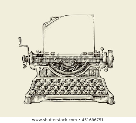 vintage typewriter stock photo © elly_l