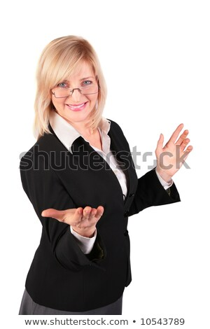 middleaged woman  makes  inviting gesture Stock photo © Paha_L