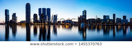 Rotterdam night view to Maas river  Stock photo © vlaru