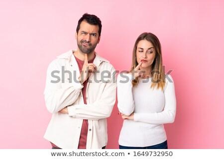 Para patrząc rozczarowany twarz człowiek krajobraz Zdjęcia stock © photography33