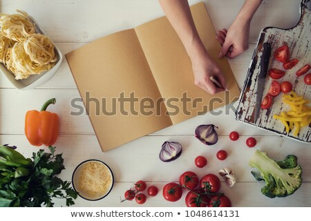 woman with recipe book stock photo © photography33