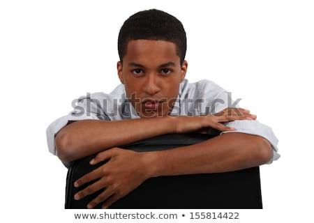 üzletember szék visszafelé mosoly férfi főnök Stock fotó © photography33
