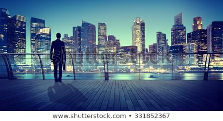 Man denken spelevaren meer landschap witte Stockfoto © photography33