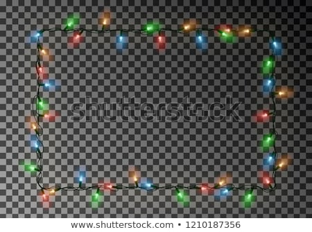 christmas lights garlands vector background with copy space stock photo © tuulijumala