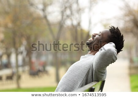 Man relaxing at the park Stock photo © photography33