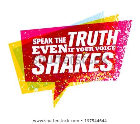 Falar verdade voz moço assinar Foto stock © piedmontphoto