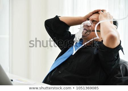 Stok fotoğraf: Kıdemli · işadamı · baş · ağrısı · olgun · iş · adamı · beyaz