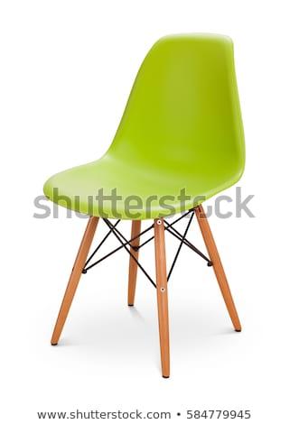 yeşil · sandalye · yalıtılmış · beyaz · ofis · işadamı - stok fotoğraf © ozaiachin