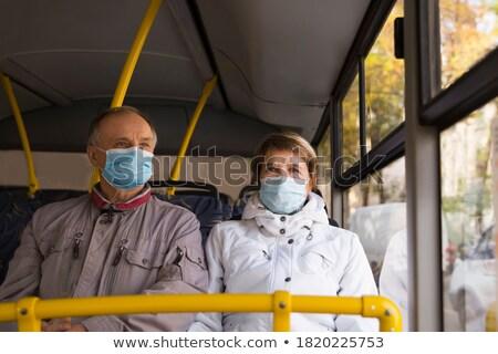 çift toplu taşıma adam şehir saç tren Stok fotoğraf © photography33