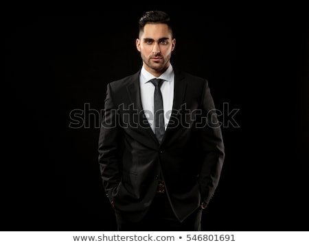 man in black suite  Stock photo © grafvision