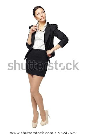 feszült · néz · fiatal · üzletasszony · fél · portré - stock fotó © lithian