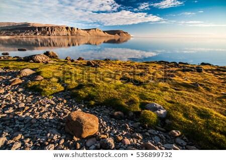gölet · dağlar · yaz · panorama · yüksek · Bina - stok fotoğraf © tomasz_parys