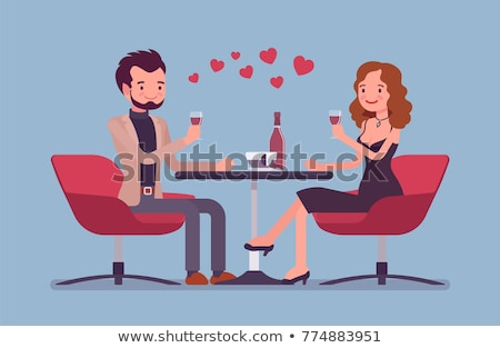 a pair of lovers at restaurant Stock photo © ssuaphoto
