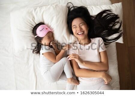 Kobieta mały drzemka model piękna bed Zdjęcia stock © photography33