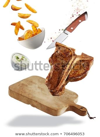 Zdjęcia stock: Nóż · odizolowany · biały · pracy · tle · zielone