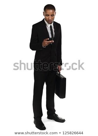 üzletember küldés szöveges üzenet fehér üzlet arc Stock fotó © wavebreak_media