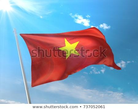 Vietnam flag on flag pole Stock photo © michaklootwijk