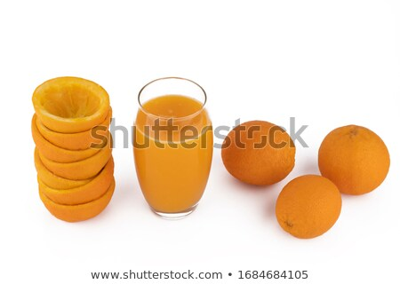 Pomarańczowy plasterka pełny szkła biały pomarańczowy jeść Zdjęcia stock © wavebreak_media