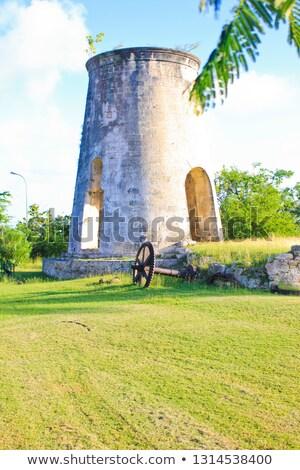 Bewölkt Eindruck Landschaft Karibik Insel Straße Stock foto © prill