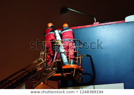 Builder lifting blank space Stock photo © photography33