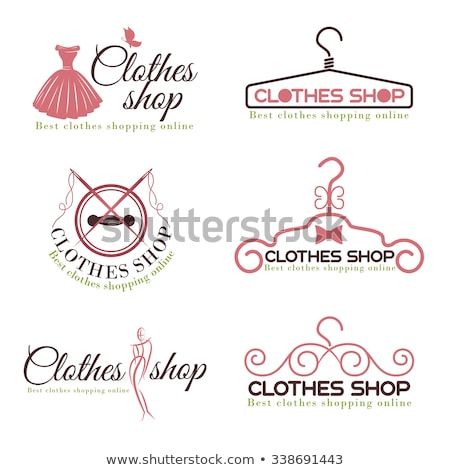 Winkelen ingesteld cartoon jonge vrouwen liefde winkel Stockfoto © cteconsulting