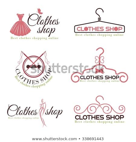 Shopping set cartoon giovani donne amore shop Foto d'archivio © cteconsulting