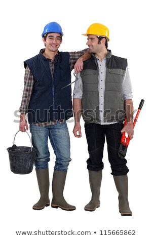 Two construction workers stood together Stock photo © photography33