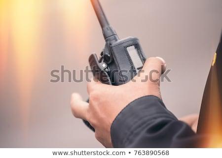 Hand with the walkie-talkie  Stock photo © Amaviael