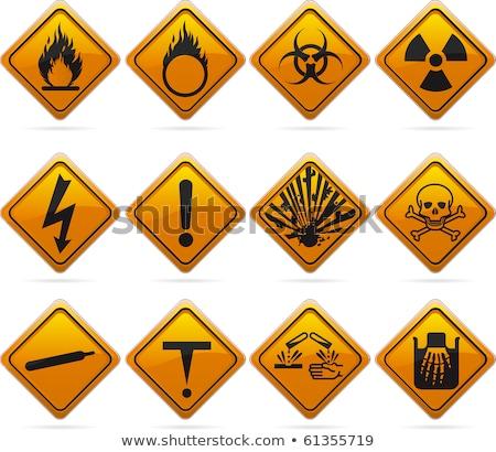 Danger signe explosive feu plaque formation Photo stock © Ustofre9