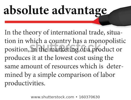 налоговых определение словарь бумаги печать белый Сток-фото © sqback